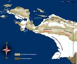 peta pegunungan papua