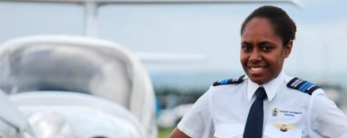 Ilustrasi : Stephany Tarileo, pilot wanita dari Vanuatu