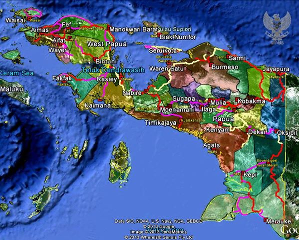 Peta pembangunan jalan