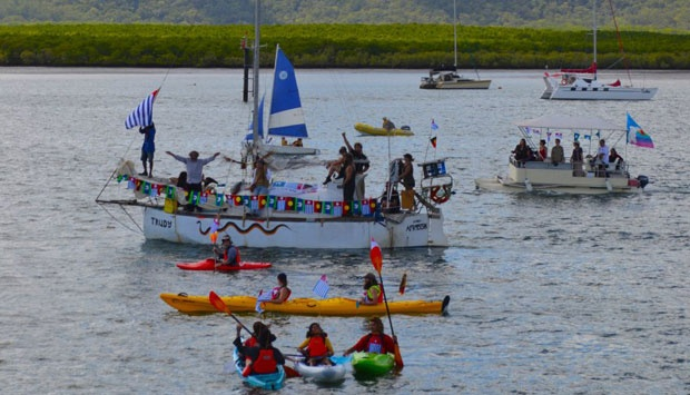 Kapal layar Freedom Flotilla. (Freedomflotillawestpapua.org)
