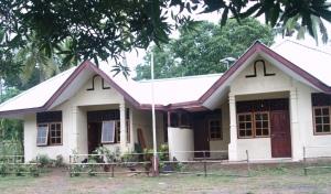 Salah satu contoh rumah guru di Sota, perbatasan Merauke-PNG. Foto: Khatarina Lita