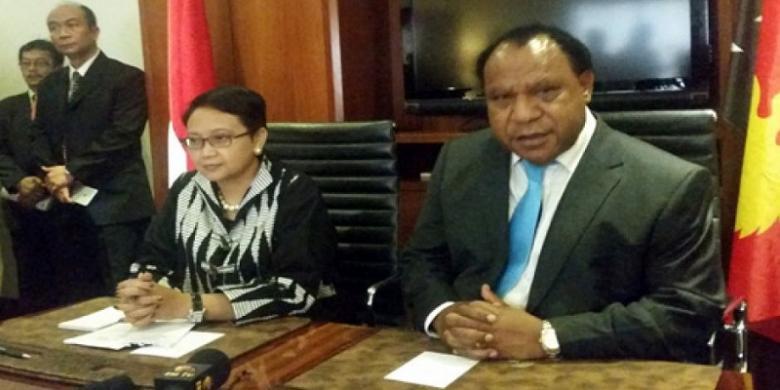 Para wartawan tak diperkenankan untuk mengajukan pertanyaan seputar Papua Barat selama kunjungan Menlu Retno Marsudi ke Papua Nugini (Kompas.com)