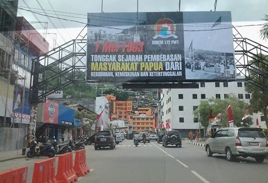 Peristiwa 1 Mei dirayakan sebagai Hari Integrasi Papua ke dalam NKRI, namun oleh kelomok KNPB diperingati sebagai hari aneksasi