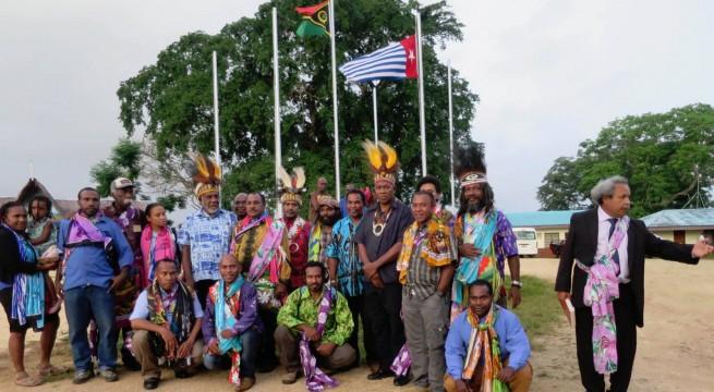 Para pemimpin perjuangan Papua Barat saat bersatu di Vanuatu, Desember 2014. (Foto: tabloidjubi)