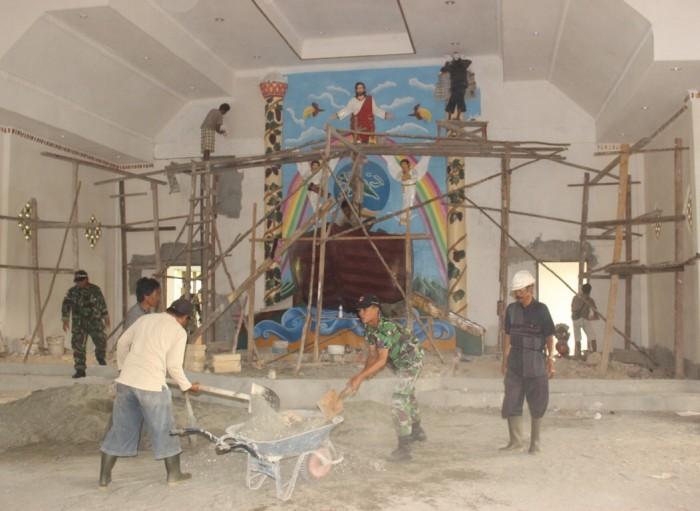 Pembangunan Gereja Bahtera di Kampung Asyaman Arso, Kab. Keerom