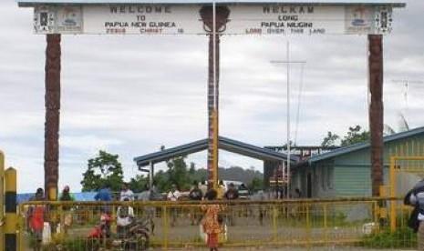 perbatasan RI-PNG di skow-wutung