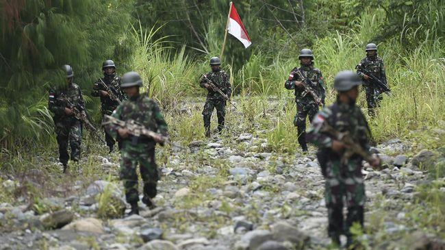 Ilustrasi TNI yang berjaga di Papua. (ANTARA FOTO)