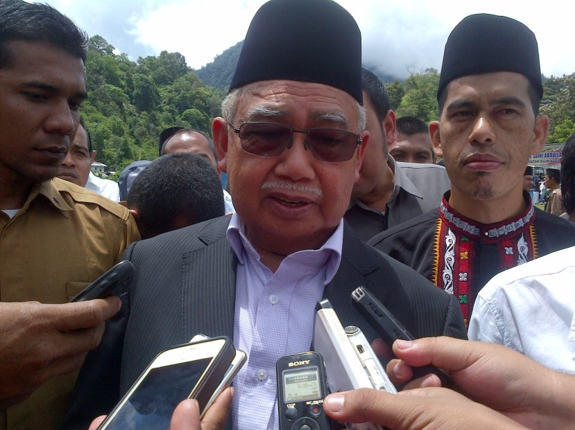 Gubernur Zaini di Aceh Tengah. Foto Nusi
