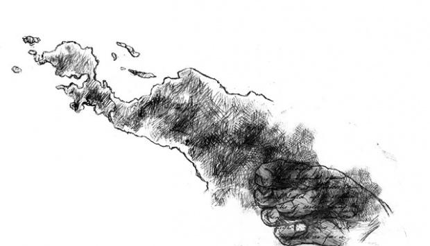 karikatur-pulau papua