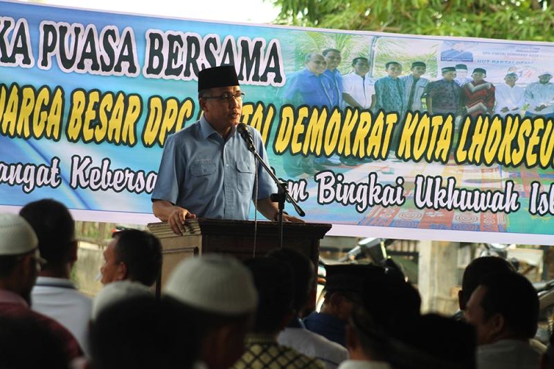 Ketua DPD Partai Demokrat Aceh Nova Iriansyah di DPC Lhokseumawe