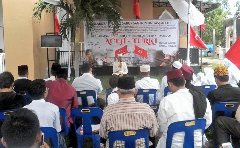 Ulasan sejarah oleh Abdurrahman Kaoy dari Majelis Adat Aceh pada peringatan 477 tahun hubungan persaudaraan Aceh - Turki