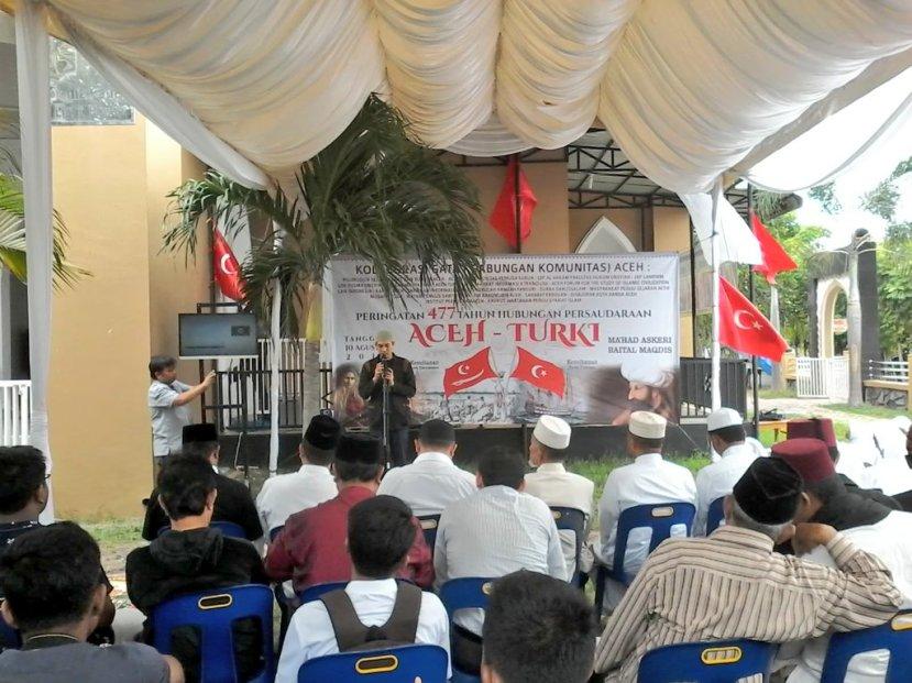 Sambutan ketua panitia Teuku Farhan pada acara 477 Tahun  Hubungan Persaudaraan Aceh - Turki