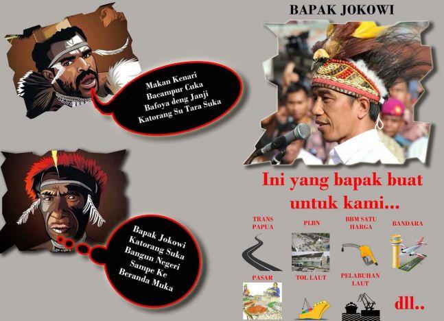 Jokowi bangun papua2