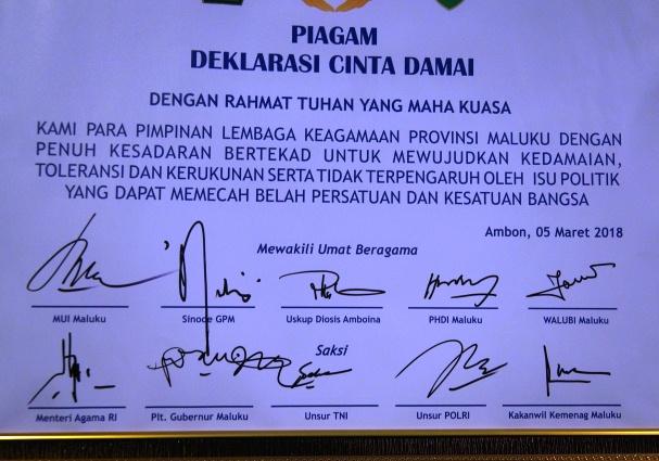 Piagam Pilkada Dama Maluku 2018